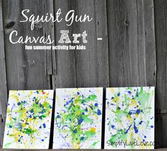 Squirt Gun Canvas Art - Fun Summer Activity for Kids #pmedia #pressnsealhacks #ad - final