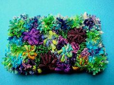 bullion stitch clutch