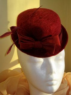 Items similar to Valentines day red cocktail mini hat fascinator. Handmade felt, raw silk bow MADE TO ORDER on Etsy Red Cocktails, Felt Hat, Fascinator, Beanie, Couture, Hats, Mini, Womens Fashion, Ideas