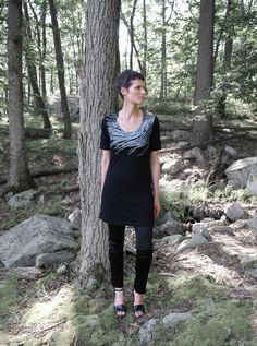 Womens Fall Fashion Scoop Neck T Shirt  Dress  by sealmaiden, $40.00