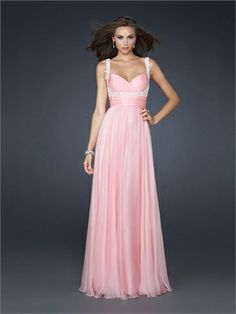 Empire Waist Chiffon Pleated Beaded With Straps and Waistband Prom Dress PD10854 www.dresseshouse.co.uk $118.0000  ----2012 Prom Dresses, 2012 Prom Dresses UK,Prom Dresses,Prom Dresses UK,UK Prom Dresses