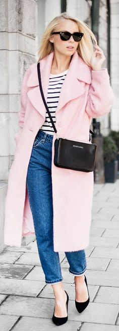 Light Pink Cozy Oversize Coat