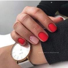 The Effective Pictures We Offer You About DIY for Dogs treats A quality picture can tell you many th Minimalist Nails, Cute Nails, Pretty Nails, Short Red Nails, Nagellack Trends, Instagram Nails, Manicure E Pedicure, Nail Swag, Dream Nails