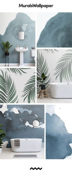 ideas bath room wallpaper scandinavian for 2019 Scandi Wallpaper, Scandinavian Wallpaper, Scandinavian Bathroom, Modern Wallpaper, Bathroom Wallpaper, Designer Wallpaper, Papier Paint, Bathroom Feature Wall, Room Wall Tiles