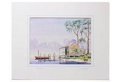 Red Boat Watercolor on OneKingsLane.com