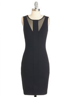 Heart and Sultry Dress - Black, Solid, Party, Girls Night Out, LBD, Bodycon / Bandage, Sleeveless, Woven, Good, Mid-length