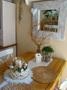 Ladder Decor, Shabby Chic, Dining Room, Table Decorations, Furniture, Design, Home Decor, Gardening, Kitchen