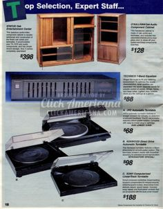 Turntables & audio component cabinets | 20 Absolutely Awesome Electronics From The '80s