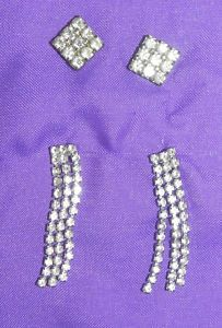 Vintage Ice Rhinestone Earrings