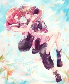 Sora x Kairi Sokai Kingdom Hearts III Kingdom Hearts 3 Cry Anime, Anime Love, Anime Manga, Anime Art, Kingdom Hearts 3, Sora And Kairi, Sora Kh, Kh 3, Pokemon