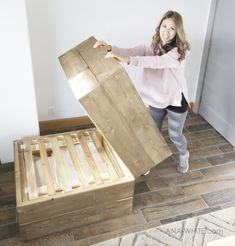 Ana White's DIY Sleeper Chair: Wooden Armchair that Becomes a Bed Ana White, Futon Sofa Cama, Twin Sleeper Chair, Chaise Diy, Wooden Armchair, Armchair Bed, Diy Inspiration, Kids Wood, Diy Chair