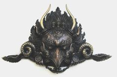 Garuda mask in metal