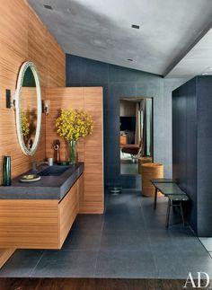 Contemporary Bathroom by Desiderata Design in Los  Angeles, California #bathroom #bath #baño