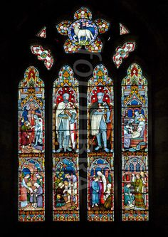 Knights Templar - Stained Glass Window - Warwickshire UK