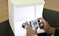 Estúdio fotográfico compacto portátil