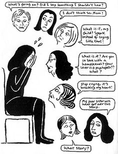 Check out Brigette's review of Marjane Satrapi's Embroideries here: http://chaptersandscenes.wordpress.com/2014/07/02/brigette-reviews-embroideries/
