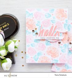 A very dainty card made by Yana Smakula. Check out the blog to see lots of tips in achieving this look.  www.altenew.com