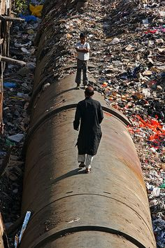 The slum of Dharavi