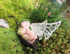 Sleeping fairy faerie cradle fairy bed baby fairy cradle