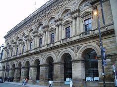 Italianate: Manchester Free Trade Hall, England. (1853-1854) Architect: Edward Walters