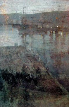 Nocturne in Blue and Gold Valparaiso Bay, 1866 - James McNeill Whistler James Abbott Mcneill Whistler, Nocturne, Abstract Landscape, Landscape Paintings, Art Graphique, Art For Art Sake, American Artists, Painting Techniques, Graphic