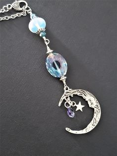 Flaming Sun with Tiger Eye Keyring Bag Charm Pagan Wicca Jewellery Gift