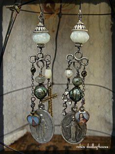 sterling silver earrings with semi-precious stones by+shadesofakasha,+$65.00