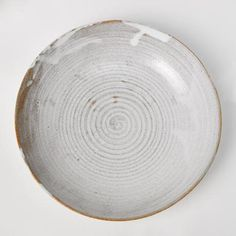Rustic stoneware pasta bowl