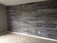 Awesome Accent Wall Ideas Can You Try at Home Stikwood. I love this product. Have it in my master bedroom and on the fireplace wall of my living room. Weathered Wood, Barn Wood, Reclaimed Wood Walls, Wood On Walls, Wood Accent Walls, Reclaimed Wood Wallpaper, Accent Walls In Living Room, Unique Home Decor, Home Decor Items