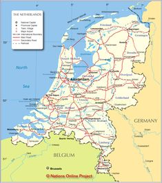 Physical Map of Netherlands Ezilon Maps Kingdom of Lotharingia