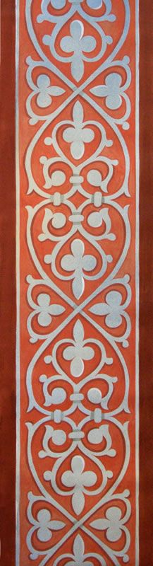 Grand Sewing Embroidery Designs At Home Ideas. Beauteous Finished Sewing Embroidery Designs At Home Ideas. Border Pattern, Border Design, Pattern Design, Byzantine Icons, Byzantine Art, Wall Stencil Patterns, Stencil Designs, Arabesque, Pattern And Decoration