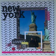 New york scrapbook layout