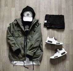 Stylish Mens Outfits, Cool Outfits, Casual Outfits, Men Casual, Fashion Outfits, Mode Streetwear, Streetwear Fashion, Look Man, Outfit Grid