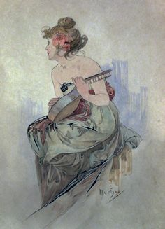 Frontispiece from Le Pater by Alphonse Mucha, 1899