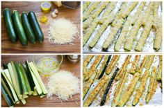 BÂTONNETS DE COURGETTE Zucchini Cheese, Cheese Snacks, Asparagus, Keto Recipes, Curry, Vegetables, Cooking, Aglio, Crackers