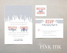 Banner Wedding Invitation : Stephanie by ShopPinkInk on Etsy