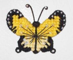 Butterfly Fridge Magnet, yellow and black