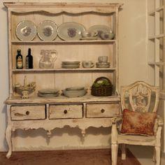 Kitchen cupboard. dollhouse miniatures, scale 1:12. Petit Brocante, 2013