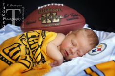 My sweet little Steeler baby! Photo by Thompson Photography www.thompsonphotography.org