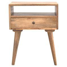1 Drawer Bedside Table Open Shelf Storage Unit Mango Wood Bedroom Home Furniture Drawer Shelves, Storage Shelves, Shelf, Cabinet Storage, Wood Bedroom Furniture, Home Furniture, Etsy Furniture, Handmade Furniture, Wooden Furniture