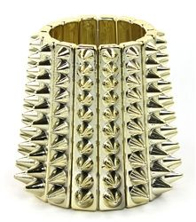 Featuring metal spikes, this statement bracelet accents your polished looks with a stylish edge. $14.99