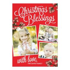 Christmas Blessings Holiday Photo Cards
