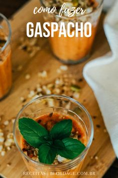 Receita: gaspacho com granola salgada - Blog da Ge