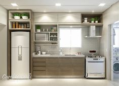 Above the fridge Simple Kitchen Design, Kitchen Room Design, Minimal Kitchen, Small Space Kitchen, Condo Kitchen, Kitchen Cabinet Design, New Kitchen, Interior Design Living Room, Kitchen Remodel