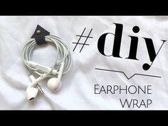 D.I.Y Earphone Wrap tutorial - How to organize your Headphones (Accessor...