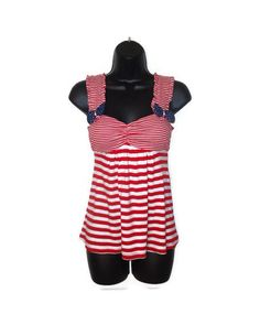 red and white striped bow top