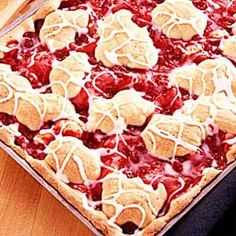 Cherry Breakfast Squares (can substitue any kind of fruit filling)
