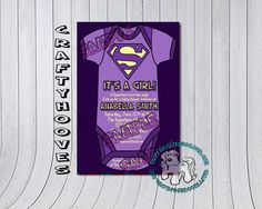 Superhero Superman Baby Shower It's a Girl Party by CraftyHooves