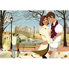 Love in Autumn #illustration / Amore in Autunno #immagine - Illust: #LucyTruman