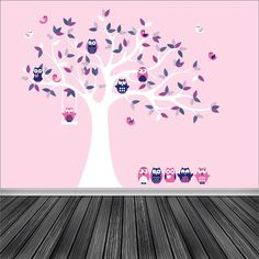 tree decal vinyl wall decal tree branch nursery by wallinspired